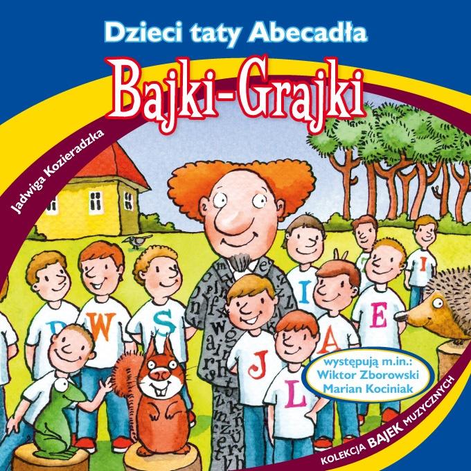 """Bajki-Grajki nr 91 """"Dzieci taty Abecadła""""  Ilustracja: Marcin Bruchnalski  www.bajki-grajki.pl"""