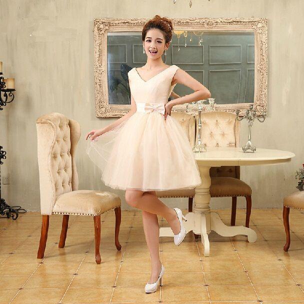 Aliexpress.com: Koop v3 2014 nieuwe ontwerp vrouwen hartendief trouwjurk rits dame korte prom party host toont jurk meisjes verjaardag bruidsmeisje jurk van betrouwbare jurk glans leveranciers op MiLan Fashion Cloth