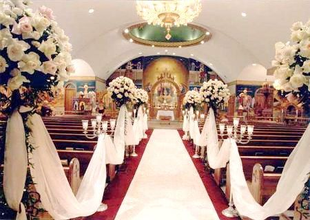 One of the most prominent church wedding decorations is the candles.