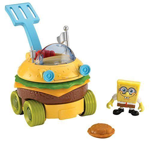 Toddler Toys Fisher-Price Imaginext SpongeBob SquarePants Krabby Patty Wagon #SpongeBobSquarePants
