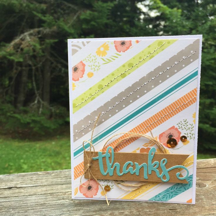 Nothing is better than getting a thank you card. I am always grateful when some sweet handmade card arrives in my mailbox.  I create them ...