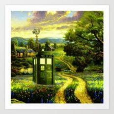 Beautiful Tardis Art Print