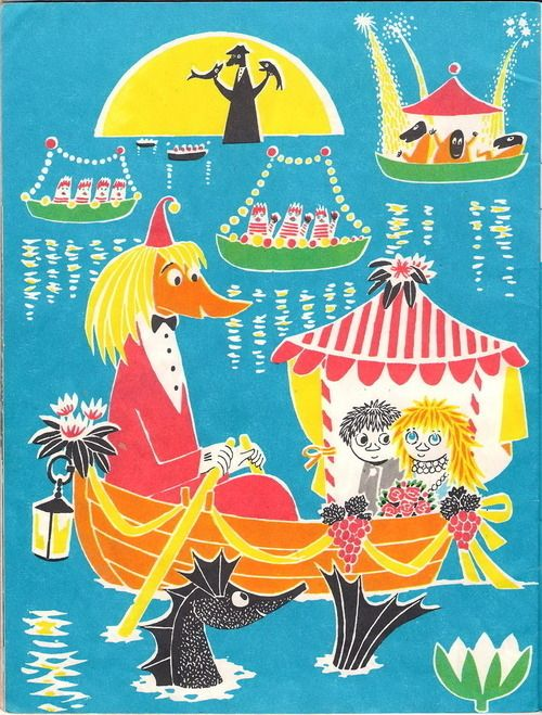 Boats are the best way to get anywhere, especially if you're a Toffle who wants to impress a beautiful girl. | 50 Lessons That Moomins Can Teach You About Life