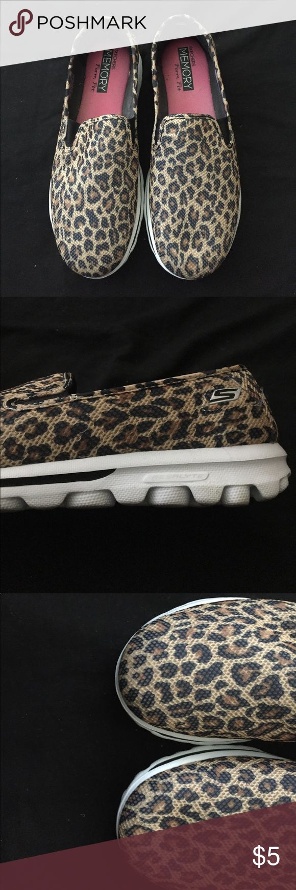 Sketchers GoWalK Memory Form Fit cheetah print Shoes Slippers