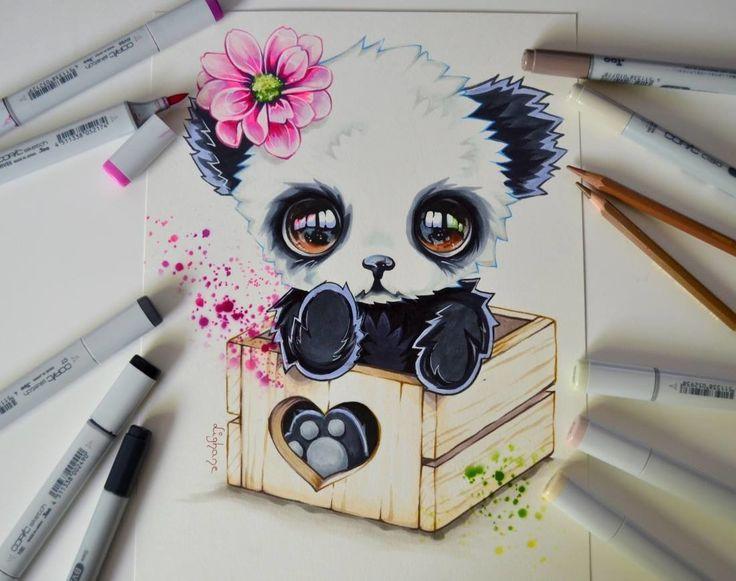 ArtStation - Pandara's Box / Box Animals Series / Copic Marker, Lighane's Artblog