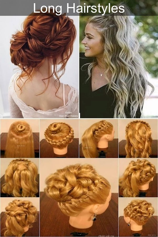 Evening Hairstyles For Medium Hair Long Hair Prom Styles Cute And Easy Updos In 2020 Hair Styles Prom Hairstyles For Long Hair Evening Hairstyles