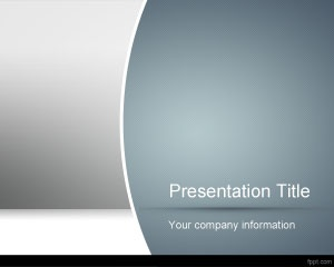 Producer PowerPoint Template with gray and blue colors and gradients