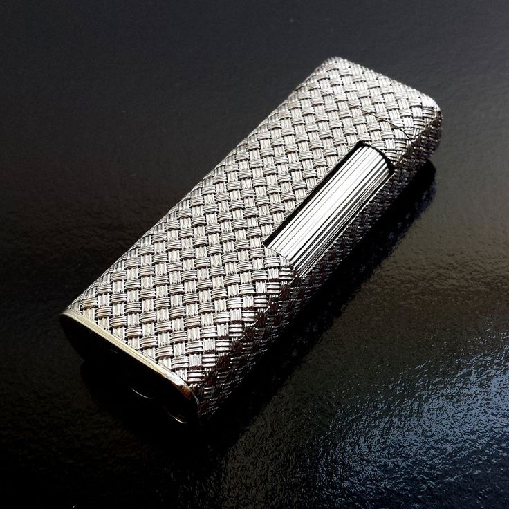 Dunhill rollagas lighter, 750 (18k solid white gold braided casing) [SOLD] #Dunhill
