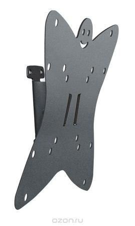 Holder LCDS-5051, Metallic кронштейн для ТВ  — 636 руб. —  Крепление для телевизора Holder LCDS-5051 создано российским поставщиком кронштейнов, полок и тумб под технику. Кронштейн дает возможность установить жидкокристаллический или плазменный экран на стене в любой комнате вашего дома. Конструкция позволяет регулировать угол наклона телевизионного экрана по желанию вверх до 6 градусов, вниз до 18. Модуль черного цвета и имеет несколько отверстий VESA, позволяющих крепить практически любой…