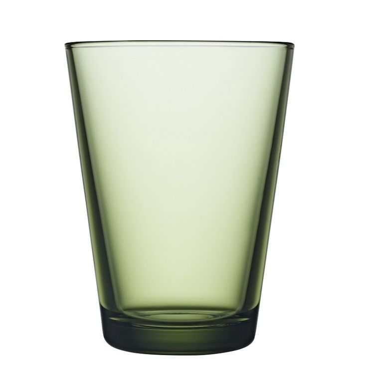 Deep forest Green Kartio, a classic glass in a rich colour by Iittala