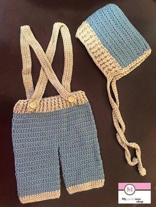 Baby  boy set, Crochet baby boy set, newborn crochet set