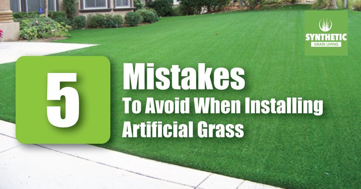 5 common mistakes you should avoid before installing astroturf. #SyntheticGrass