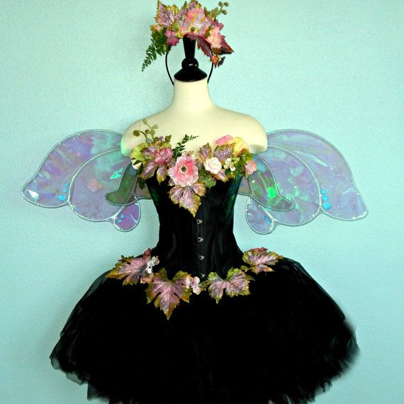 Fairy Costume - The Moonlit Garden Faerie - adult fairy costume size MEDIUM - waist size 24 inches or larger