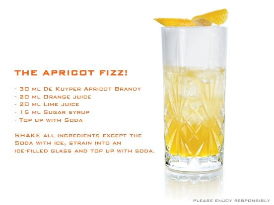 It's summer time with the Apricot Fizz