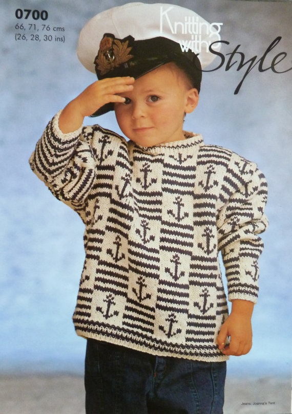 Sailor Boy Knitting Machine Pattern by NostalgiaTripVintage, £2.00
