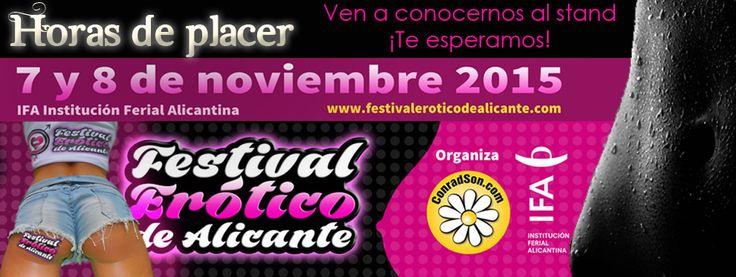 Volvemos al festival erótico de Alicante 2015. Ven a conocernos al stand de Horasdeplacer y a ver todos los productos que tenemos para ti. #espectaculo #show #erotico #sexo #Alicante #Murcia #festivaleroticodealicante