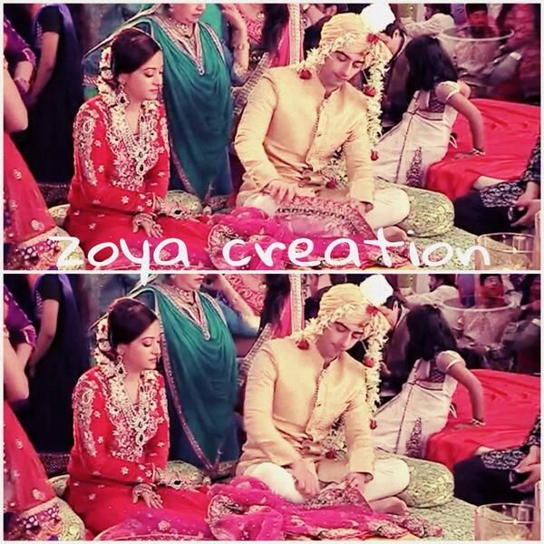 Zain playing with aaliya's dupatta