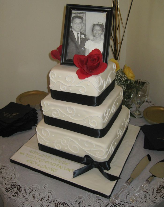 50th wedding anniversary Cake pictures   pin 50th wedding anniversary 25th announcements cake picture to ...