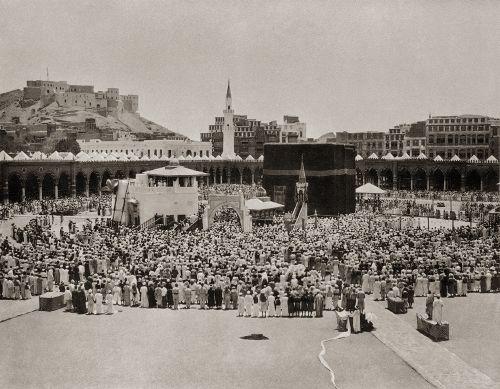 Prayer around the Holy Ka'bah 1889 by Hurgronje