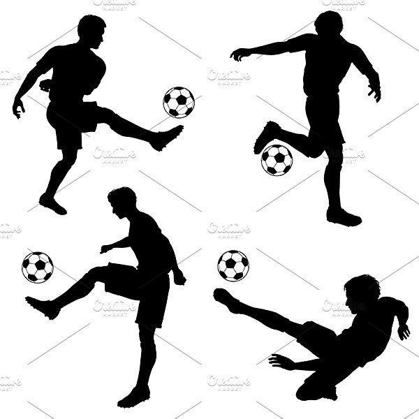 Soccer Silhouettes Soccer Silhouette Football Silhouette Silhouette