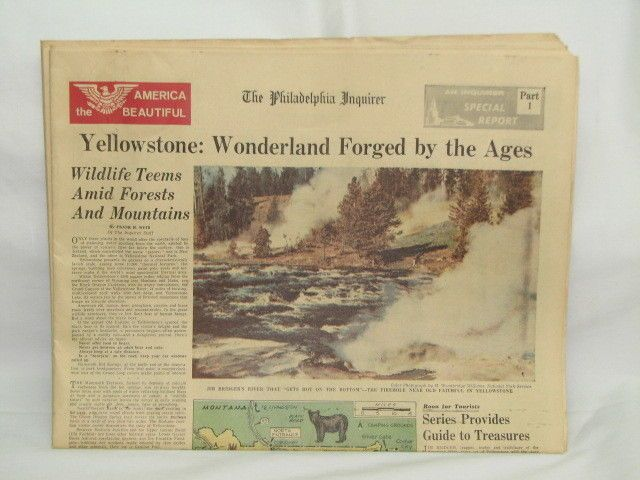 Vintage The Philadelphia Inquirer Special Report America the Beautiful Parts1-15