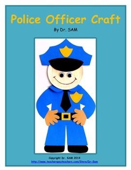 This craft for your Community Helpers week is super cute! It makes an easy bulletin board too! For shared writing, I use a large size chart paper, draw a circle map, write Police Officer inside, and have my students dictate or write down what they know about this community helper.