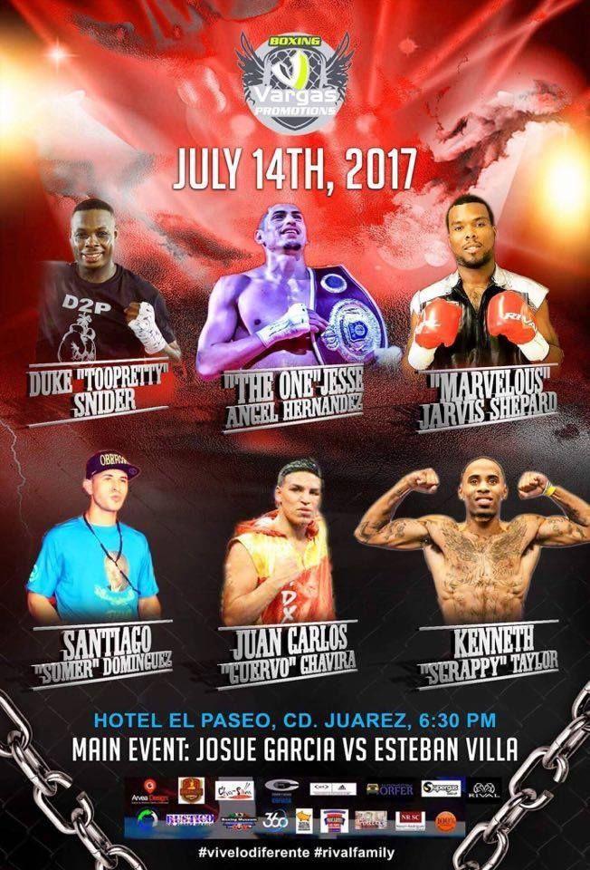 El boxeador nacido en Tyler, Texas, Kenneth Taylor será de los protagonistas que suban al ring en la función que se efectuara el viernes 14 de julio...