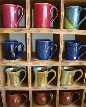 Colorful assortment of mugs - Buy 3 and your 4th is free!
