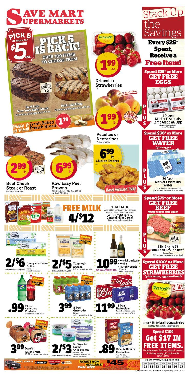 Save Mart Weekly ad June 21 - 27, 2017 - http://www.olcatalog.com/save-mart/save-mart-weekly-ad.html