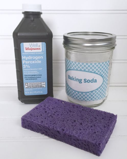 how to clean bathroom with hydrogen peroxide