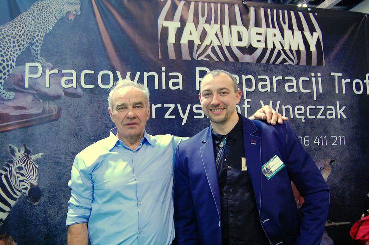 Polish taxidermy master, Krzysztof Wneczak. Photo taken during International Hunting Fair EXPOhunting 2015 in Sosnowiec