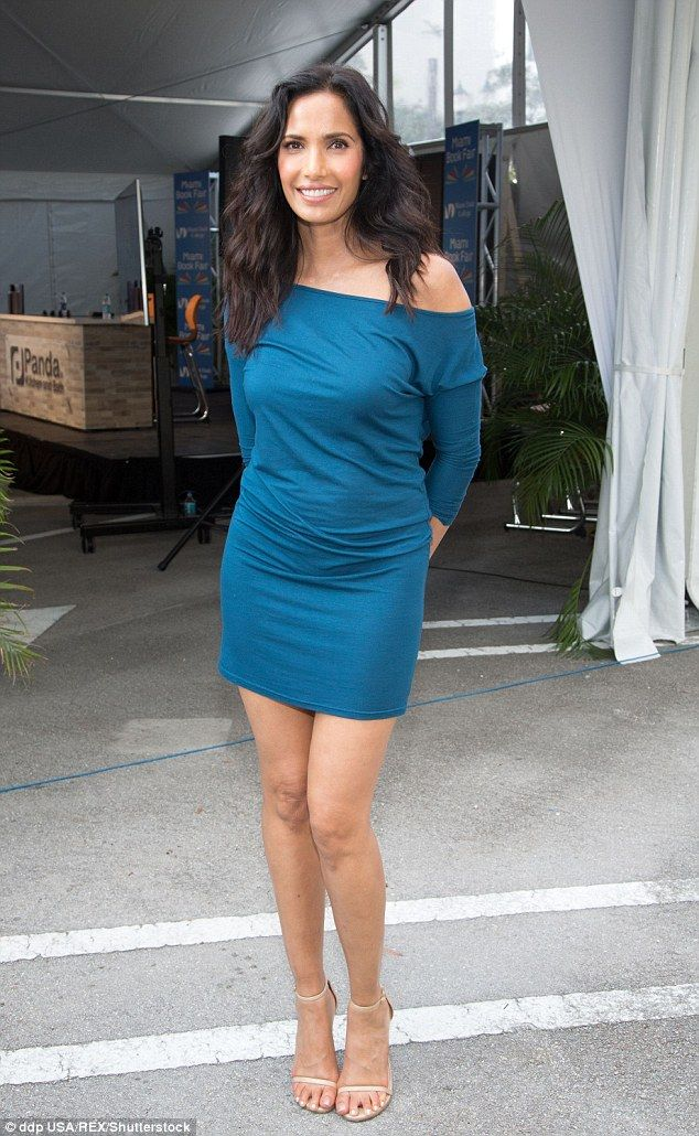 Lady of the hour: Padma Lakshmi was one of the famous faces at the Miami Book Fair on Sund...