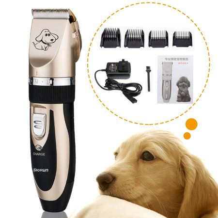 Baorun Professional Low Noise Grooming Kit Animal Pet Cat Dog Hair Cordless Clipper Shaver Set Kit Gold Dog Grooming Grooming Grooming Kit