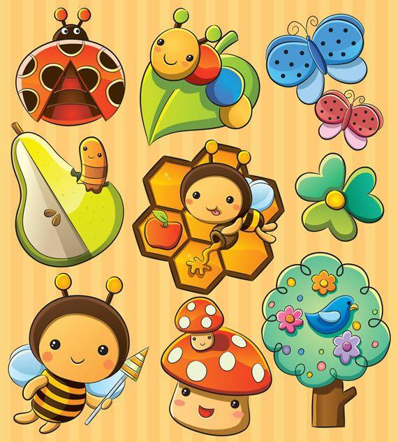 Insectos animados vectorizados