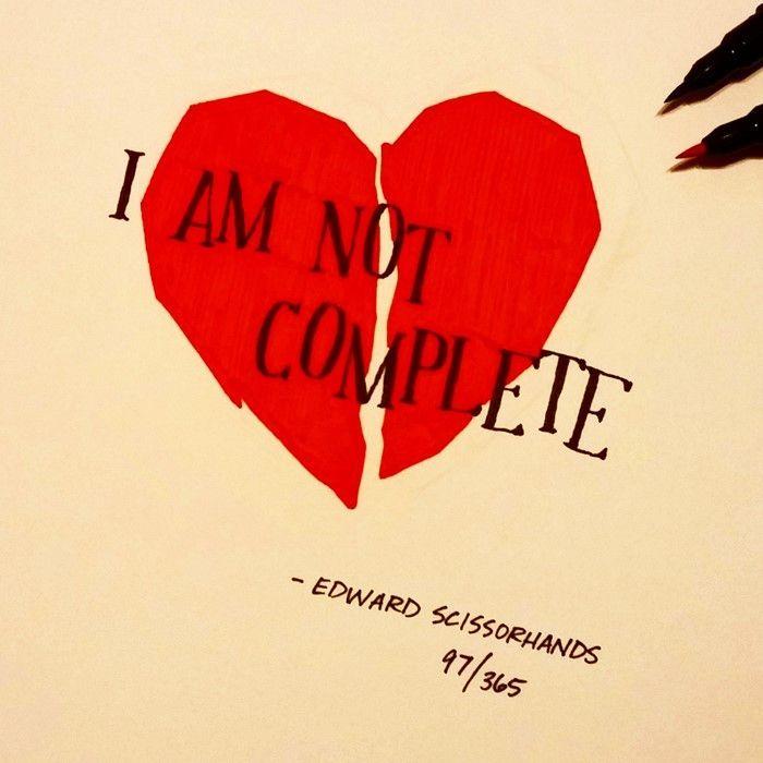 """""""Não estou completo"""", Eduardo, Mãos de Tesoura. Ian Simmons"""
