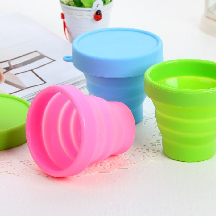 1pc Creative Silicone Cups Portable Collapsible Telescopic Travel Mug Cup Outdoor Travel Tourism Cups Foldable Water Bottle