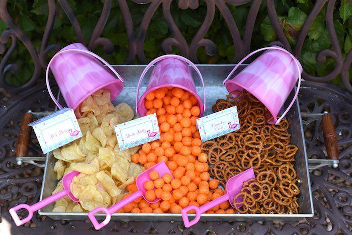 Snack Tray from a Pink Flamingo Pool Party via Kara's Party Ideas | KarasPartyIdeas.com (24)