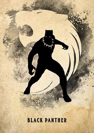 Vintage Avengers Minimalist Poster Set, Spiderman, Black Panther, Vision, Scarlet Witch – XxRoshanxX