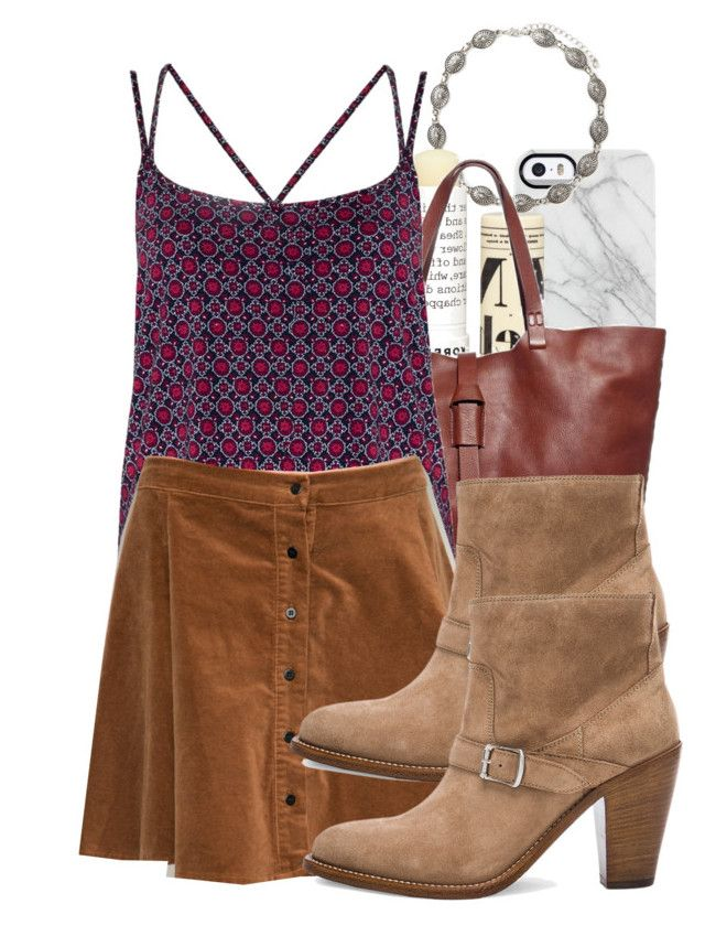 """""""Bonnie inspired casual family reunion outfit with choker necklace"""" by tvdstyleblog ❤ liked on Polyvore featuring Uncommon, Forever 21, Korres, Madewell and Yves Saint Laurent"""