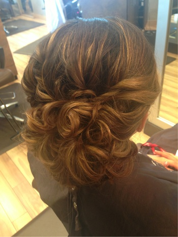 By Mal Stumberg. #prom #curls #updo @Bloom.COM