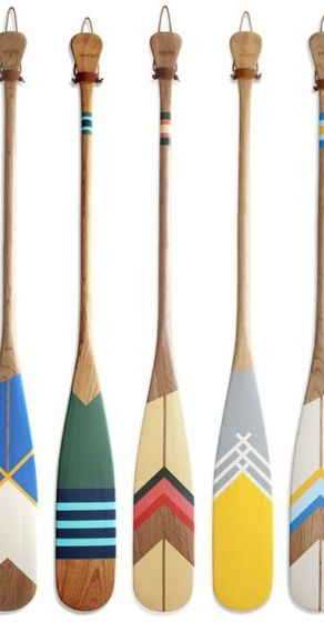 Artist and avid canoeist Natasha Wittke launched Norquay Co. in 2013, when she surmised her canvas and paddle could well be one. Each paddle is crafted from solid Ontario cherry and embellished with bright, vintage camp-ware inspired designs, making them