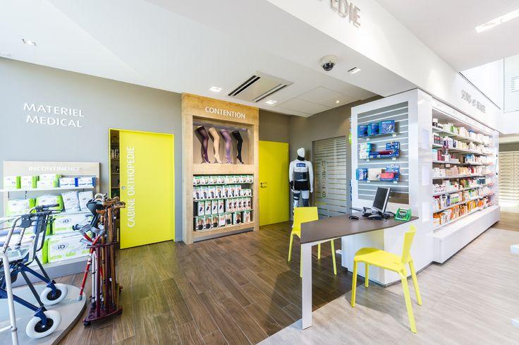 Pharmacie du NEULAND, Sundhoffen (Haut-Rhin) - Noll Concept à Westhalten (Haut-Rhin) - Conception et agencement de pharmacies, mobilier de pharmacie, construction, transformation