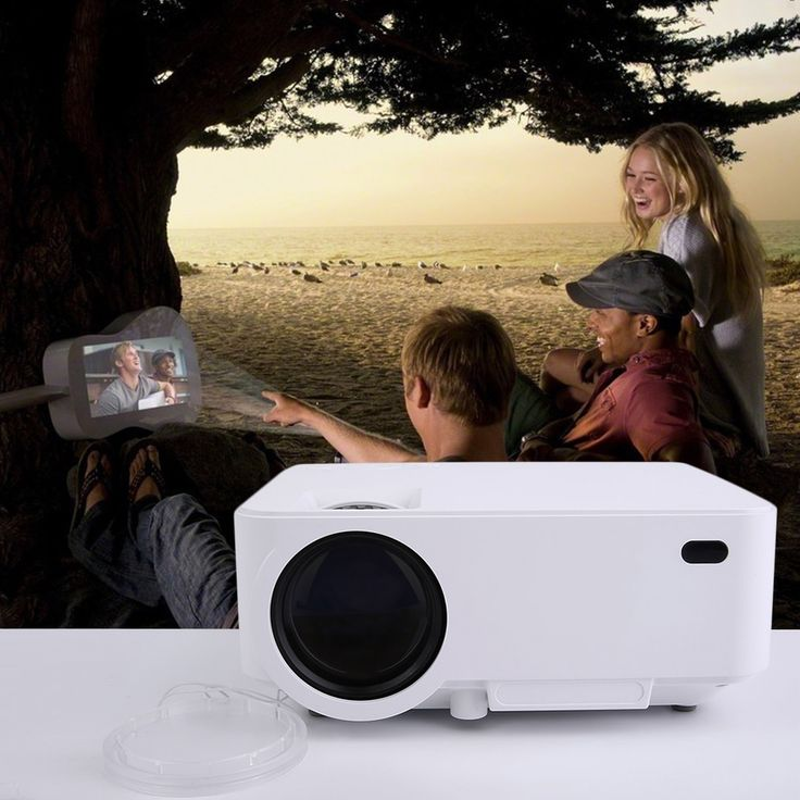 HD 3D Wifi Portable Intelligent Model LED Video Home Cinema Projector For PC