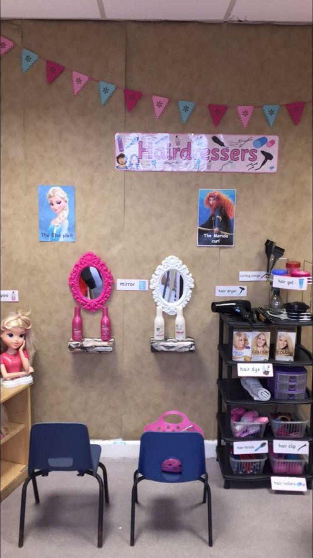 Fairytale hairdressers role play, EYFS