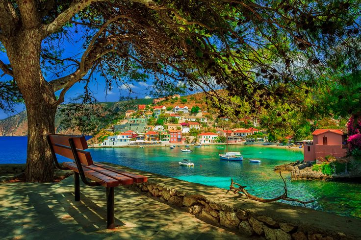 VISIT GREECE| Lovely Assos village in #kefalonia #visitgreece #greece