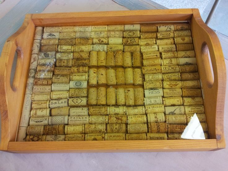 Nifty Wine Cork Tray Started With A Wooden Tray Wine