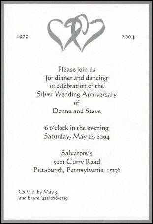 60th Wedding Anniversary Invites