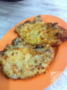 Air-fry 200degree C for 10mins, turn and air-fry for another 5mins . . . . . Air-fried Pork Chop