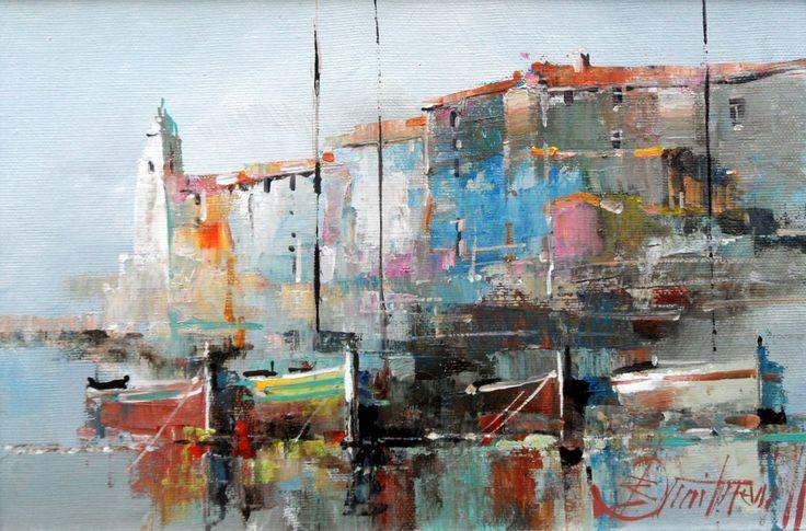 Branko Dimitrijevic, Belfry, Oil on canvas, 20x30cm