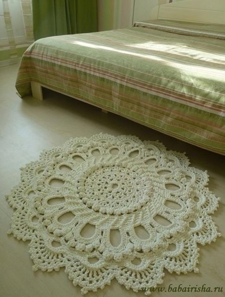 Rug originally doily pattern. Splendid by Patricia Kristoffersen from American School of Needlework #1277, Wonderful Doily, IT IS FREE AT PKCROCHET.COM http://www.ravelry.com/projects/RosesNLace/splendid